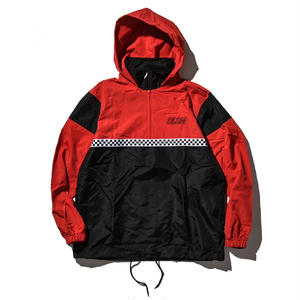 """18SS"" DLSM ディーエルエスエム CHECKERD FLAG ANORAK HOODIE -Black-"