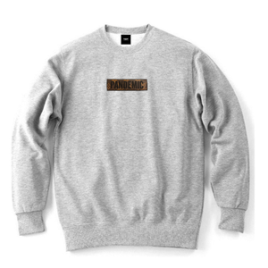 """18AW"" PANDEMIC  Re Castom Sweat   -L Box Logo-  -Gray-"