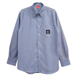 SQUARE LOGO OX SHIRTS (DENIM BLUE)