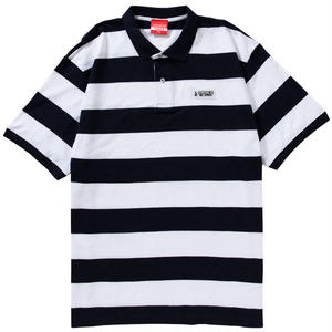 WAPPEN BORDER POLO(WHITE/NAVY)