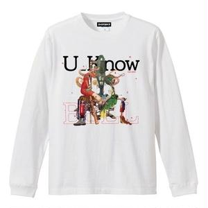 OILWORKS / U_know WHITE LONG TEE 2019