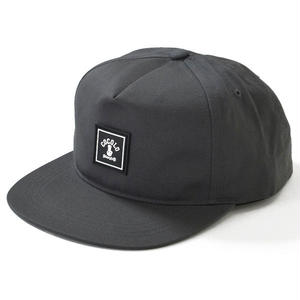 SQUARE LOGO WAPPEN SNAPBACK (CHACOAL)