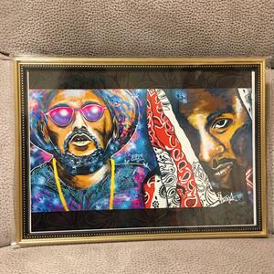 Paint school boy Q&joey badass Print A4(Gold Flame)