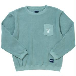 COCOLO Bland × Oh!theGuilt POCKET WAFFLE CREW(GREEN)