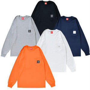 SQUARE LOGO POCKET L/S TEE (ORANGE or GRAY)
