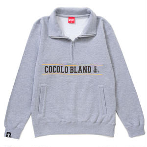 LINE LOGO HALF ZIP SWEAT (GRAY)