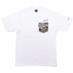 BACK CHANNEL × PRILLMAL TOKER CAMO POCKET T(WHITE)