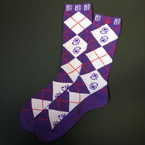 酔argayle socks(PURPLE×GRAY)