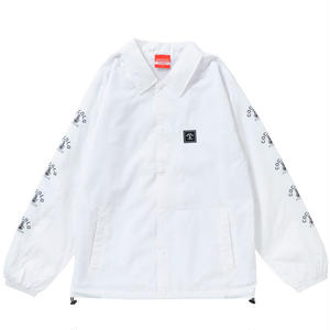 SLEEVE BONG COACH JACKET(WHITE)