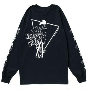VINYL BITCH NOTE&GIRL L/S TEE (BLACK)
