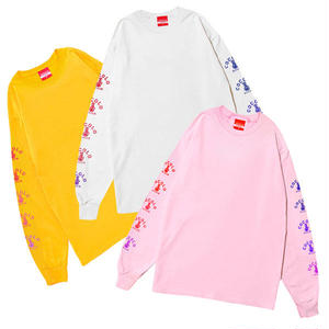 SLEEVE BONG L/S TEE ver. 2017 (WHITE&PINK&YELLOW)