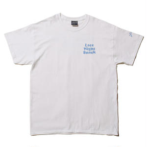 LATE NIGHT !!! : S/S T-SHIRTS(white+light blue)