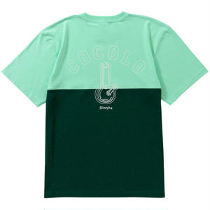 HALF CUT OUTLINE BONG S/S TEE (GREEN)