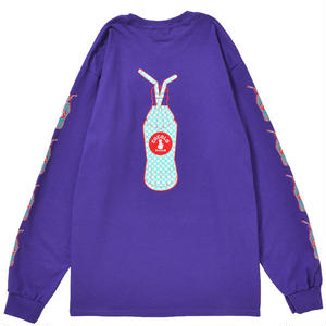 DOT BOTTLE L/S TEE (PURPLE)