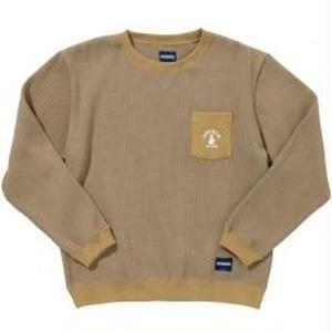 COCOLO Bland × Oh!theGuilt POCKET WAFFLE CREW(BEIGE)