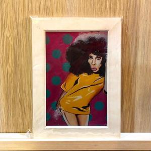 Paint Erykah Badu Print A6(white Flame)