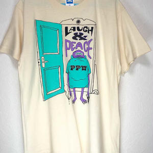 LAUGH & PEACE TEE (NATURAL)