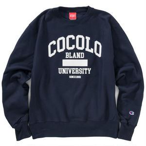 COCOLO BLAND UNIVERSITY CREW NECK SWEAT (NAVY)