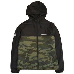 SWITCHING NYLON WINDBREAKER (BLK/CAMO)