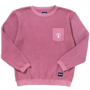 COCOLO Bland × Oh!theGuilt POCKET WAFFLE CREW(PINK)