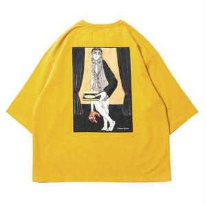 6月発売 / TIGHTBOOTH x OILWORKS - WAITER 7 SLEEVE T-SHIRT MUSTARD SHIRT