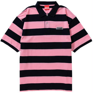WAPPEN BORDER POLO(PINK/NAVY)