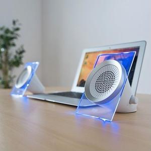 音と光で空間を演出するUSB電源スピーカー