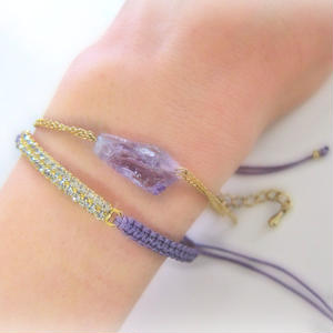 Lough cut Amethyst bracelet