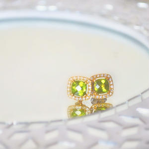 Peridot & Diamond Pierce
