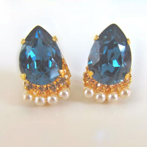 Bijouest petit/ vintage blue piercer & earring