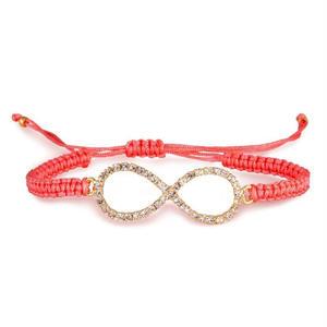 amorium Jewelry Coral infinity thread bracelet