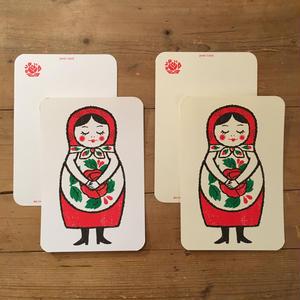オリジナルポストカード・マトリョーシカ おじぎ・2枚