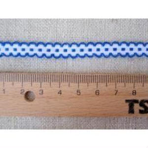 手芸テープ 白に青のふちどり