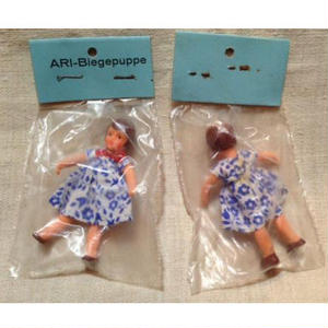 ARIドット青花柄ドレスの女の子904