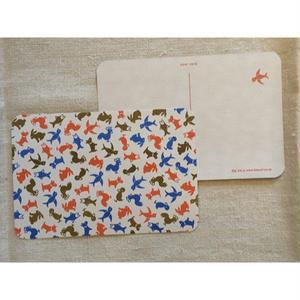 オリジナルポストカード・どうぶつ茶・2枚