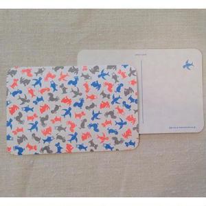オリジナルポストカード・どうぶつパステル・2枚