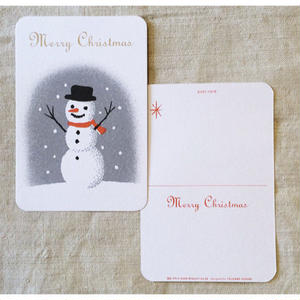 オリジナルポストカード・クリスマス(スノーマン)・2枚