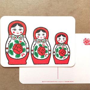 オリジナルポストカード・マトリョーシカ 3P・2枚