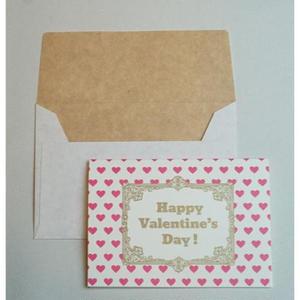 ミニグリーティングカード(封筒付き)・ヴァレンタイン