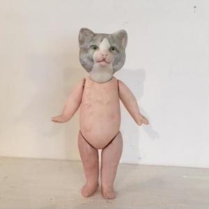 ネコのミニョネットはちわれグレー946