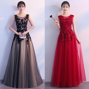 20代 大人可愛く上品なローズ柄ロング丈ドレス