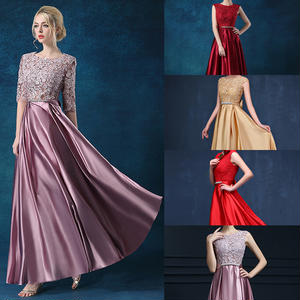 20代 切り替えがお洒落な上品で大人可愛いロング丈ドレス