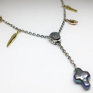 CROSS PEARL NECKLACE /クロスパールネックレス