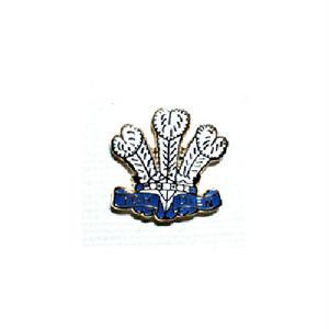 ピンバッジ:ウェールズ 羽飾りの紋章
