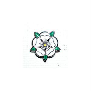 ピンバッジ:イングランド 白薔薇