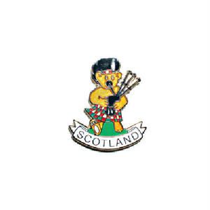 ピンバッジ:スコットランド バグパイパー熊