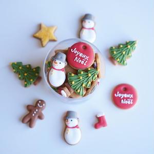 Joyeux Noël(アイシングクッキー+型抜クッキー)発送は12月6日以降の指定日