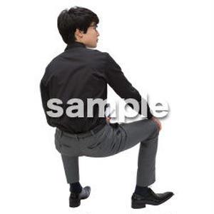Cutout People 座る 男性 LL_125