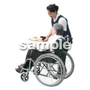 人物切抜き素材 医療・シニア車椅子編 D_294