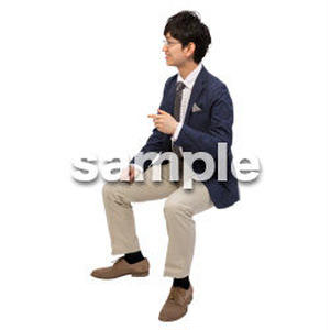 Cutout People 座る 男性 LL_097